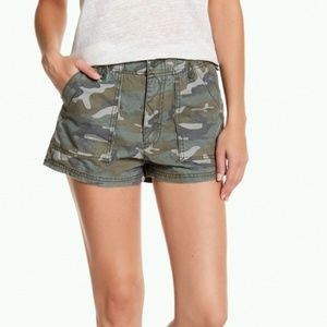 Free People Camo Shorts High Rise NWT 2